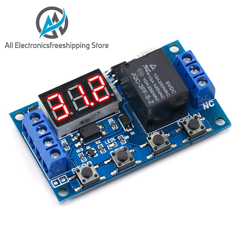 3//4 Button DC12V//Micro USB 5-30V Cycle Delay Timer Control Relay Switch Module