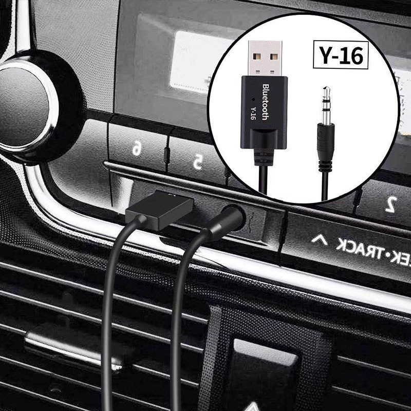 Y-16 Bluetooth 5.0 Transmitter Receiver Stereo Audio Adapter 3.5mm TV CAR PC