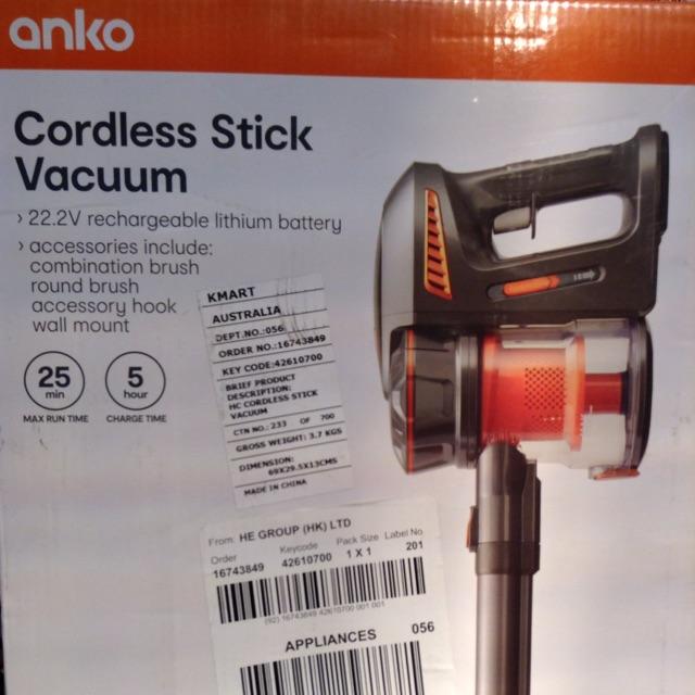 Cordless rechargable vacuum