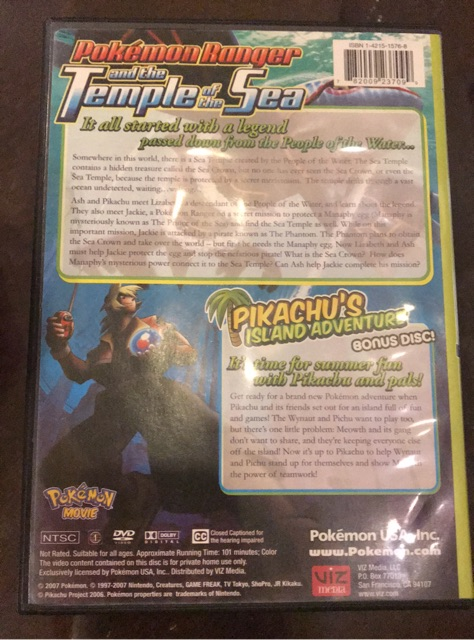 Pokemon Ranger And The Temple Of The Sea Anime Dvd 2 Discs