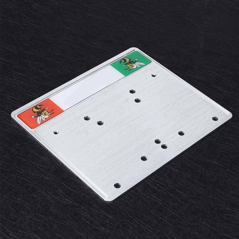 Alupre CNC Aluminium License Plate Holder Frame Fit compatible with Piaggio Vespa Sprint GTS GTV LX