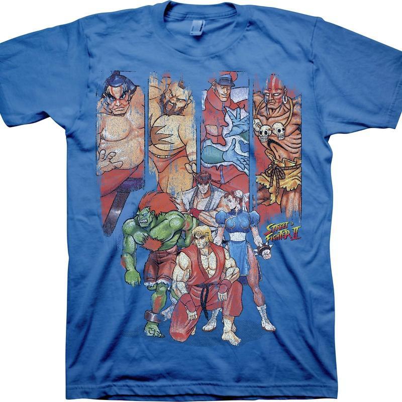 Bison Psycho World Power T-Shirt Capcom Street Fighter M Gray