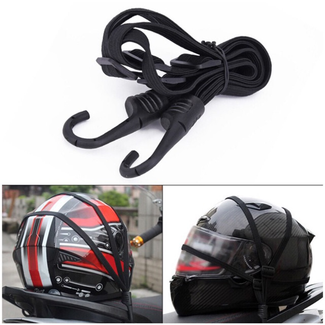 60cm Motorcycle Strength Retractable Helmet Luggage fixed Elastic Rope Strap With 2 Hooks