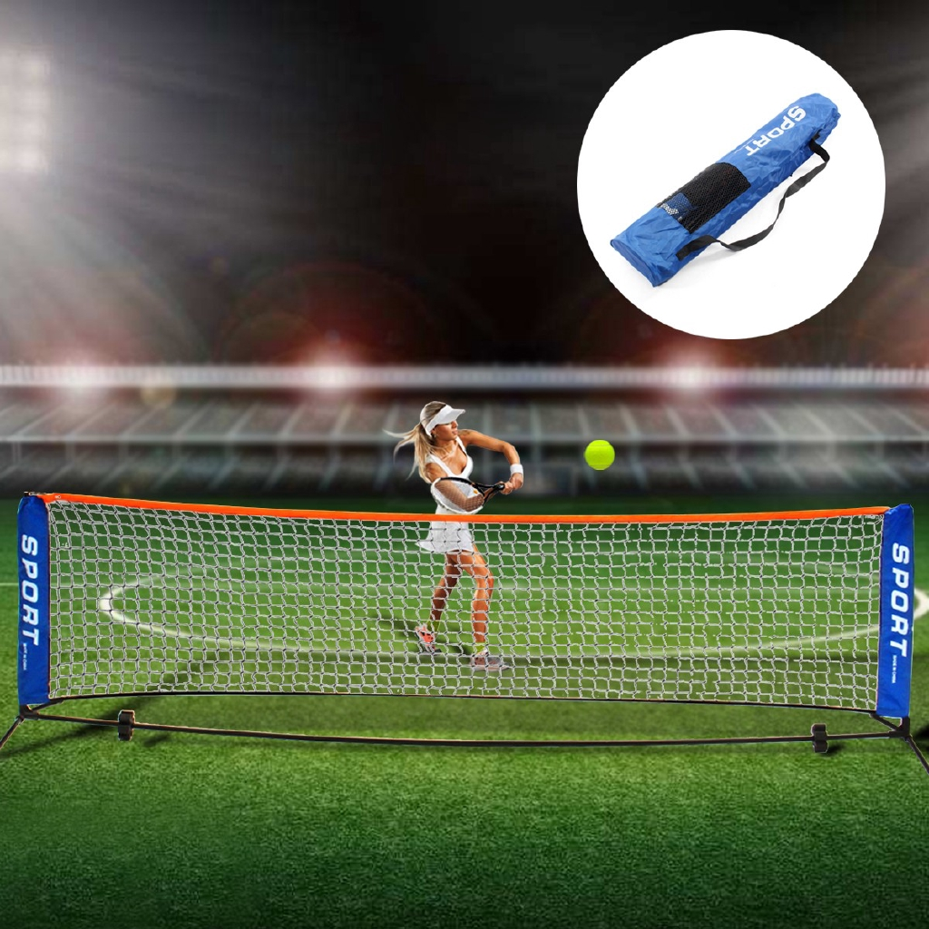 Shuttlecock Net with Frame Stand and Carrying Bag Badminton Net Outdoor Garden Badminton Net 3/m Collapsible