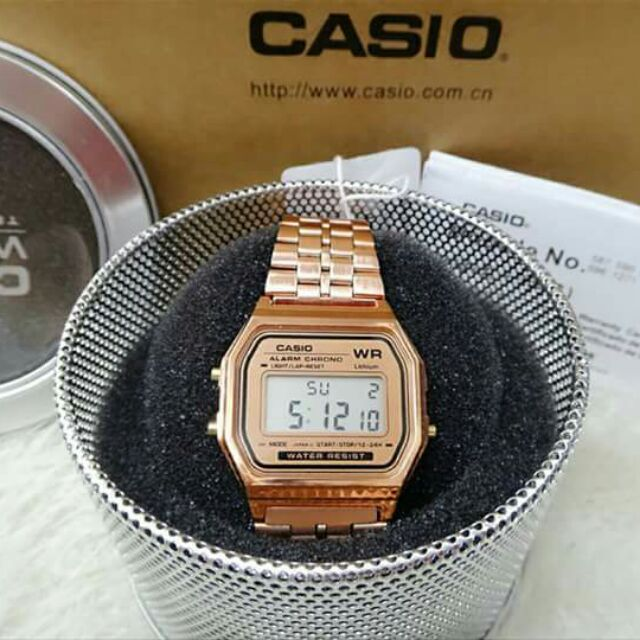 7854aefafe3 CASIO VINTAGE WATCH Rose Gold Gold Silver Black Plated OEM
