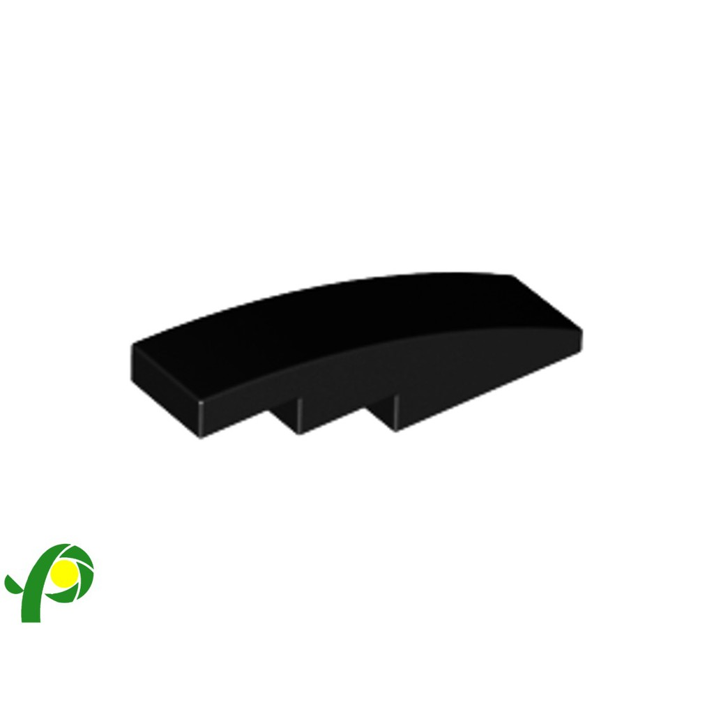 New LEGO Lot of 4 Black 4x1 Curved Slope Parts