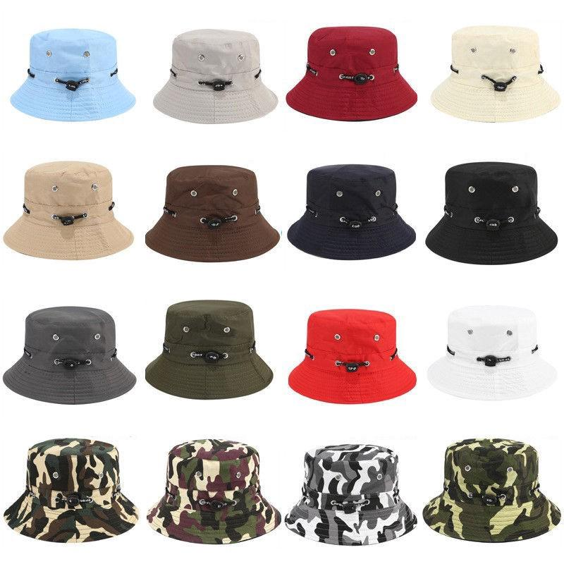 768055e144c Men Women Bucket Hat Cap Casual For Fishing Summer Outdoor