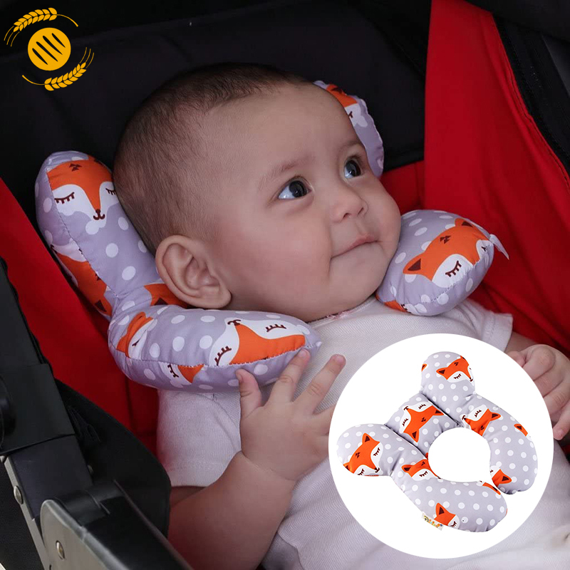 lucky 0 1 year old baby stroller anti flat head shaping pillow safety seat headrest travel sleeping baby pillow