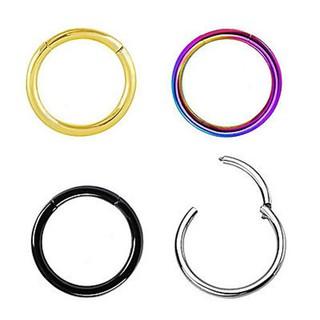 6 10mm 14g Stainless Steel Hinged Clicker Septum Segment Hoop Ring