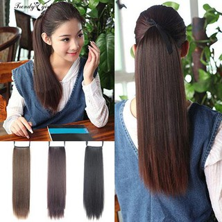 Nice!!! Hairpiece Long Straight Clip in Ponytail
