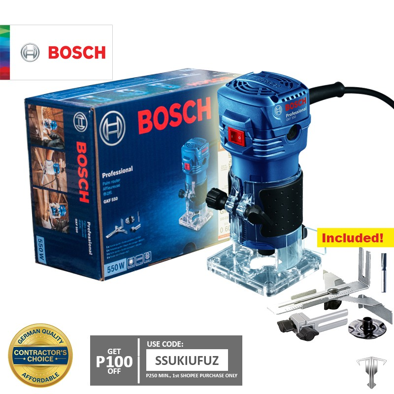 Bosch GKF 550 Professional Palm Router / Trimmer on