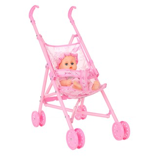 2x Lovely 12inch Baby Doll Pushchair Stroller for Mellchan Dolls Furniture Gift