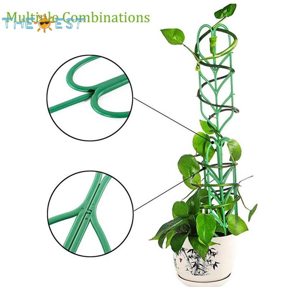 w// 3Pcs Clips Plant Cages Assembled Tomato Garden Cages Stakes Vegetable Trellis for Vertical Climbing Plants