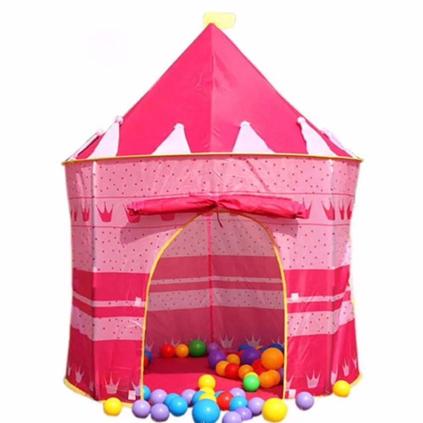 Baby Adaptable Children Play House Toy Tent Princess Castle Folding Tipi Play Tent Outdoor Home Baby Gear