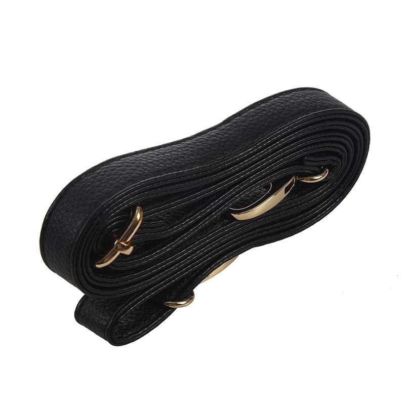 Adjustable Leather Replacement DIY Shoulder Cross Body Strap for Handbag Black