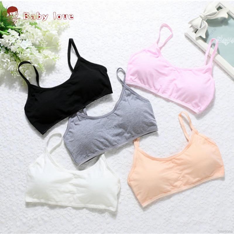 Young Girls Training Bra Puberty Teen Kids Soft Breathable Cotton Underwear Tops
