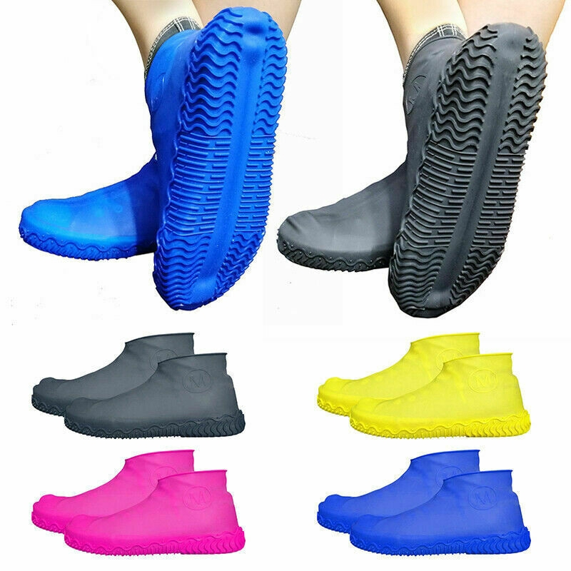 Slip-Resistant Silicone Overshoes Rain Waterproof Shoe Covers Boot Protector 2X