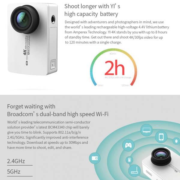 YI 4K Action Camera with YI Gimbal Bundle Set Accessories