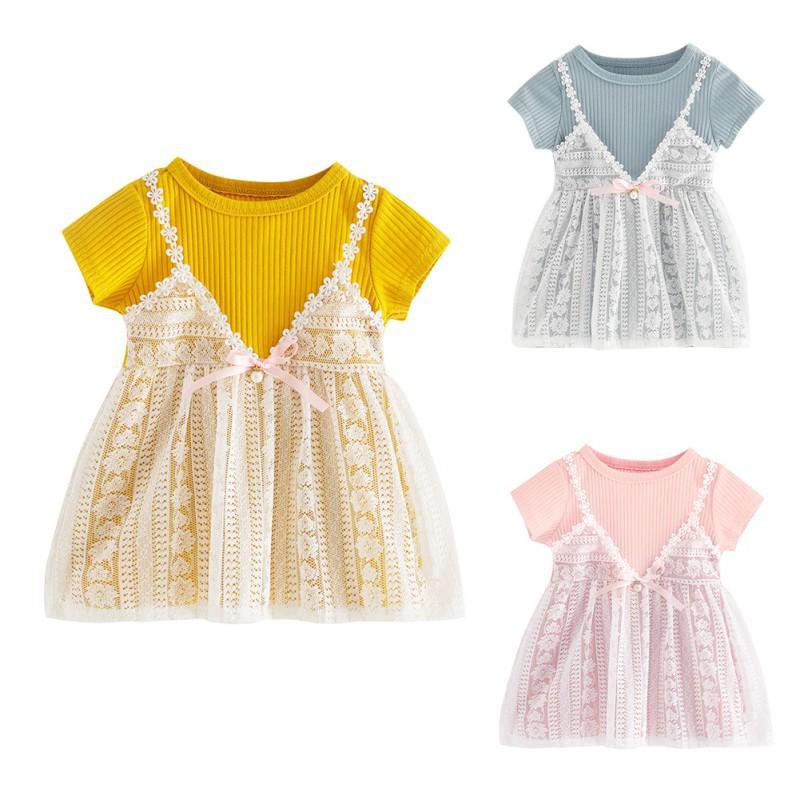 6d5f92f3d BOBORA Kids Girls Summer Clothes Floral Elastic Waist Dress | Shopee  Philippines