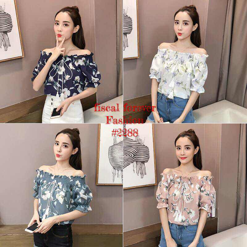 bc5c33279b7 💋JT Off Shoulder Floral Sleeve Top | Shopee Philippines