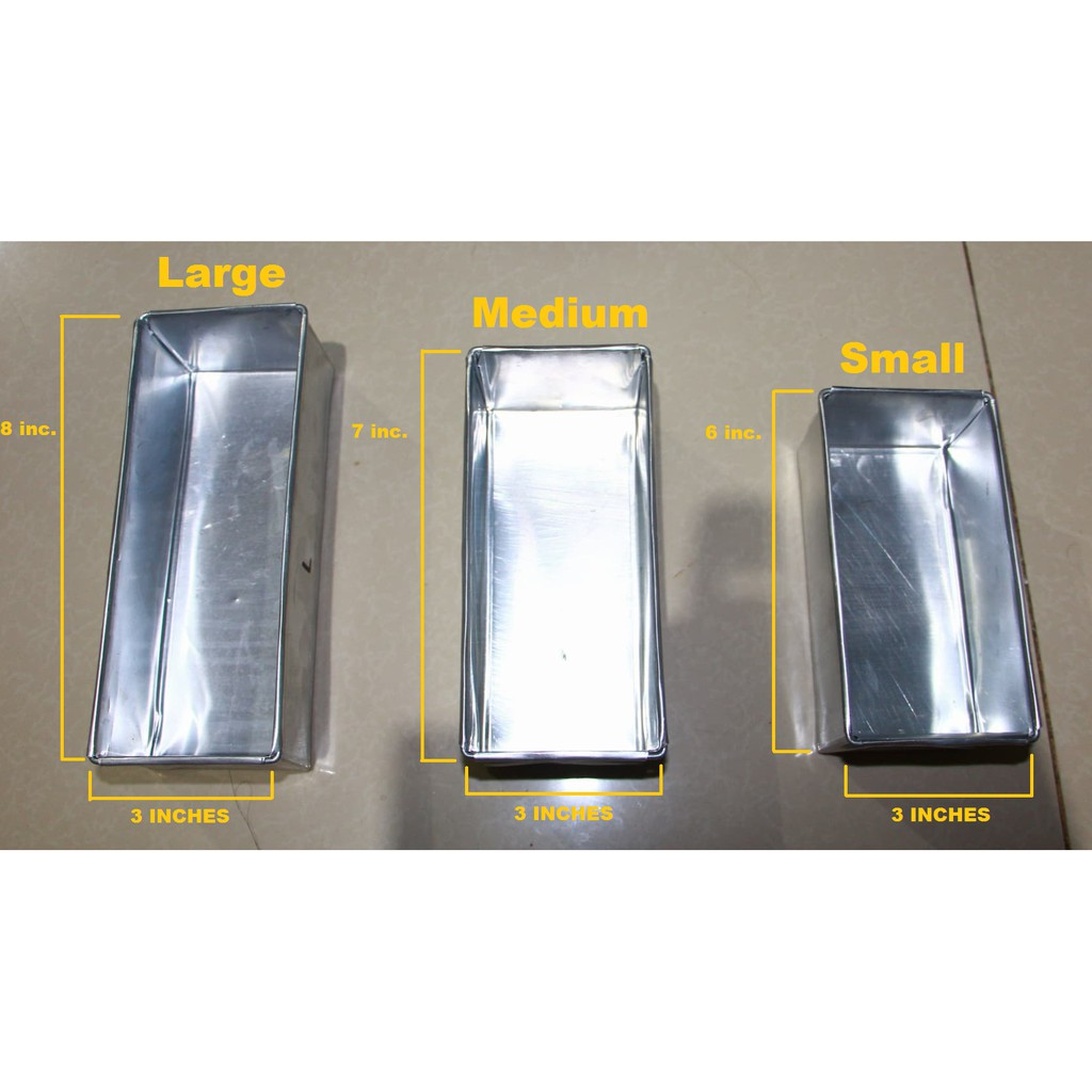 Aluminum Loaf Pans (Small, Medium and Large)