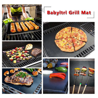 for Electric Gas Charcoal Indoor Outdoor BBQ Black Heat Resistant Reusable Creative Non-Stick BBQ Baking Mats Oven Liners 5pcs BBQ Grill Mats Set and Easy to Clean