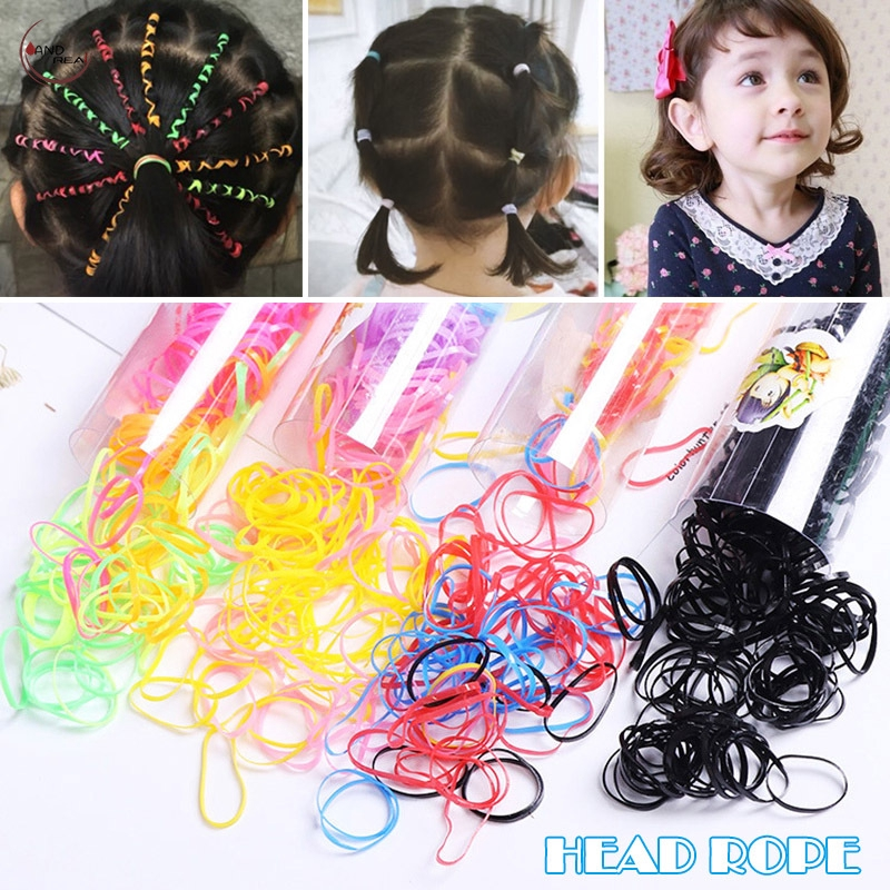 10//50PCS Pure Black Mixed Stretch Telephone Line Elastic Accessories Hair Band