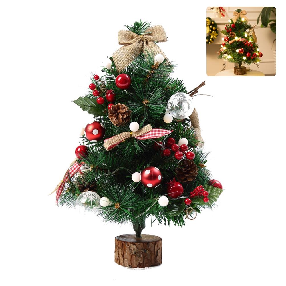 50cm Mini Christmas Tree With Light String Desktop Christmas Tree Christmas Decoration Shopee Philippines