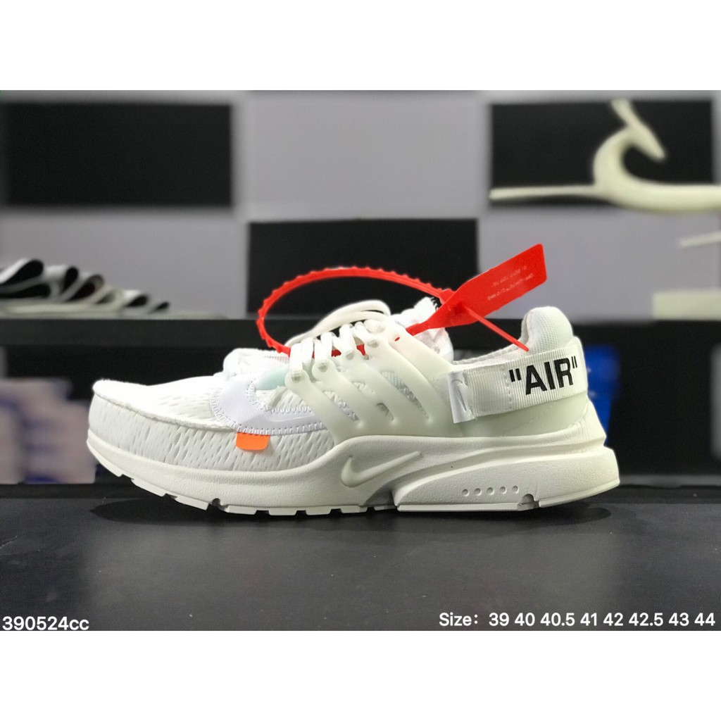 new arrival a48f0 1ed94 XH OFF-WHITE x Nike Air Presto all White mesh breathable mens womens sport  sneaker