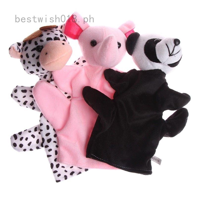 afaf2b608716 1PC Cute Elephant Hand Puppets Plush Toy Kids Baby Developmental ...