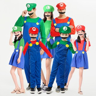 Mario And Luigi Costumes Kids Super Mario Bros Brothers Shopee