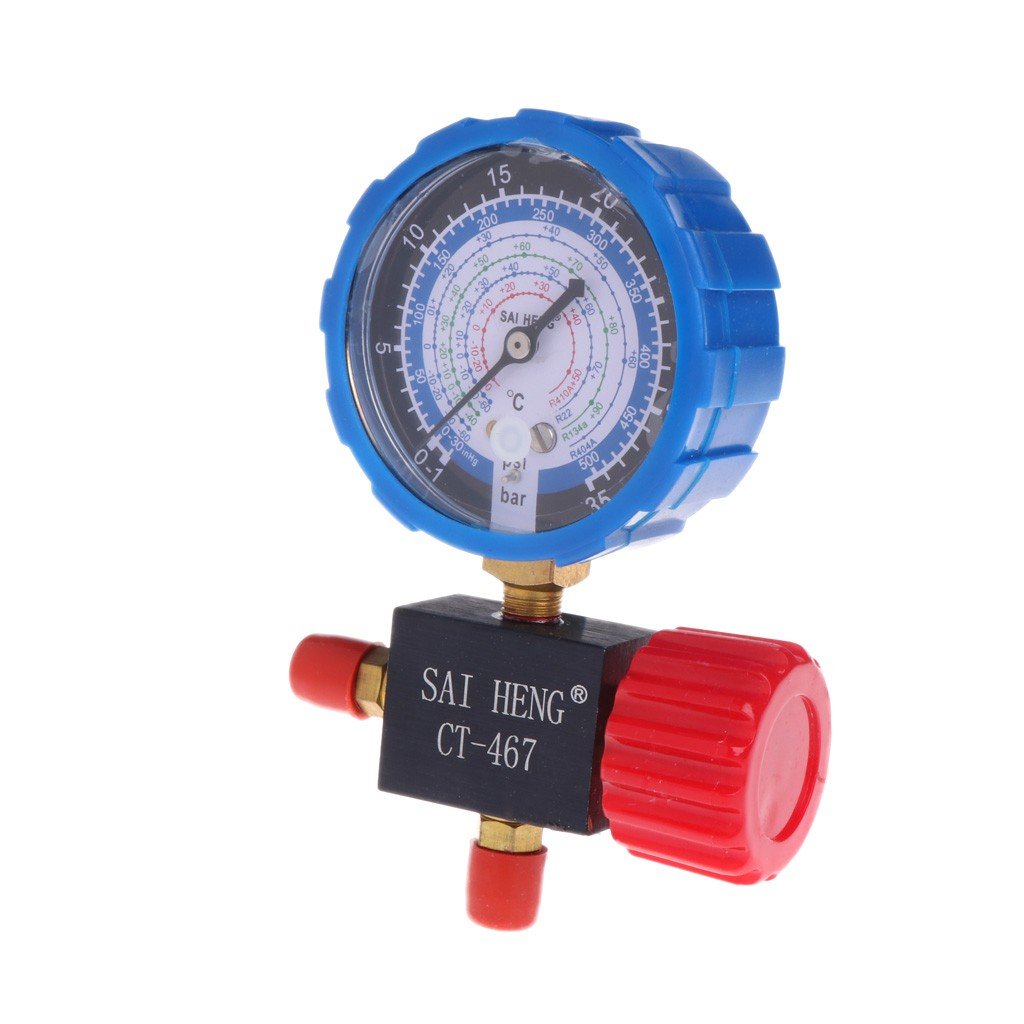 HighQ Air Condition Manifold Gauge Manometer/& Valve Fit For R404a R22 R410 R134A