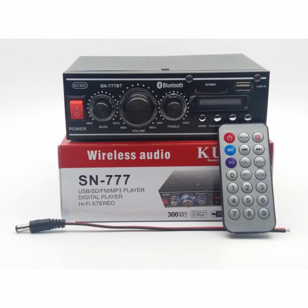 KUKU SN-777 2 Channel HI-FI Stereo Audio Power Amplifier