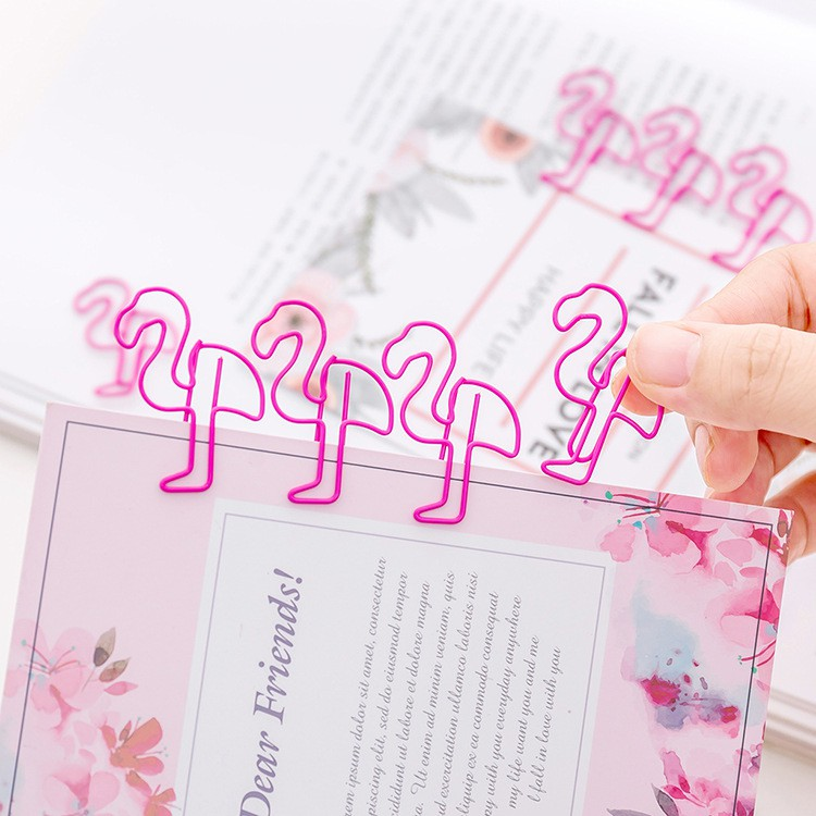 5//10PCS Pig Pink Bookmark Paper Clip Hollow Out School Office Supply Stationery