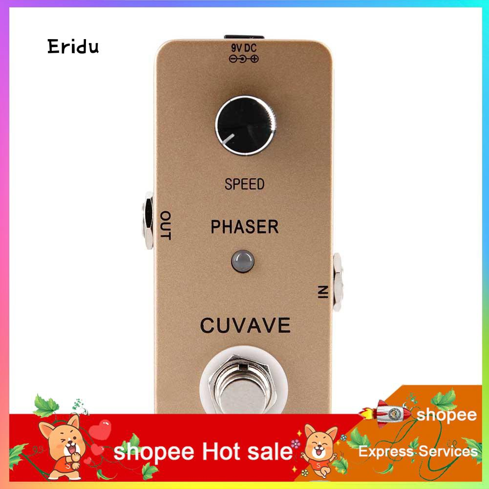 ERI-Full Phase Tone Analog Circuit Stompbox True Bypass Phaser Guitar  Effect Pedal