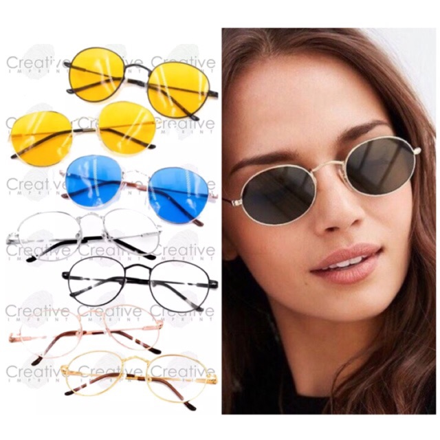 3028797edd Double Bridge Cat Eye Flat Lens Sunglasses Shades FREE CASE