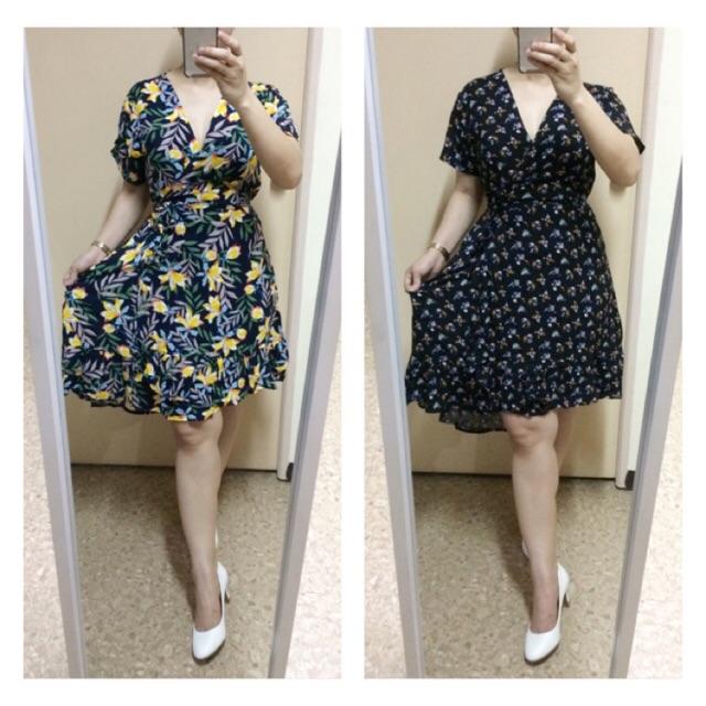 01d2d71c8c508 Wrap Dress (Semi Long Back(fits M-L / challis fabric)updated 08-08-19)