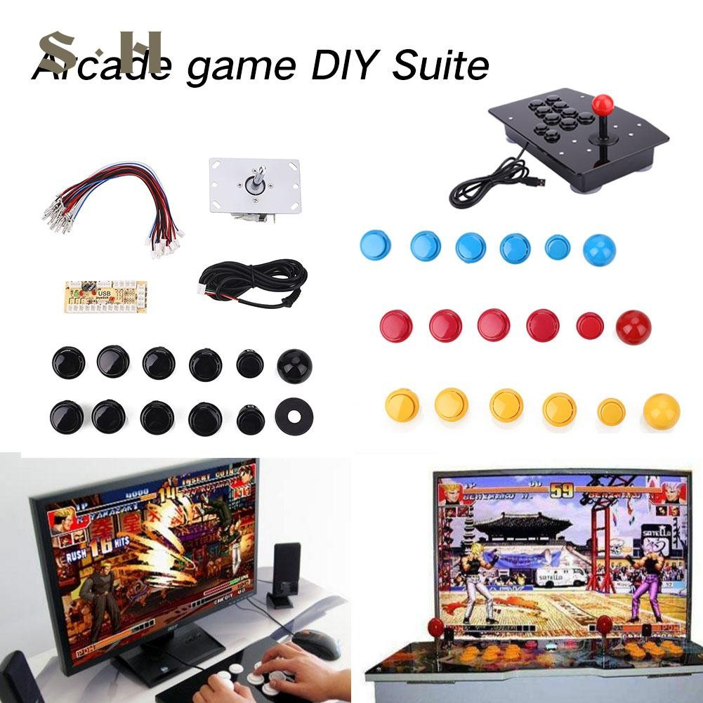 SIM Zero Delay Arcade DIY Kits LED USB Encoder + Joystick + Buttons For  MAME PC