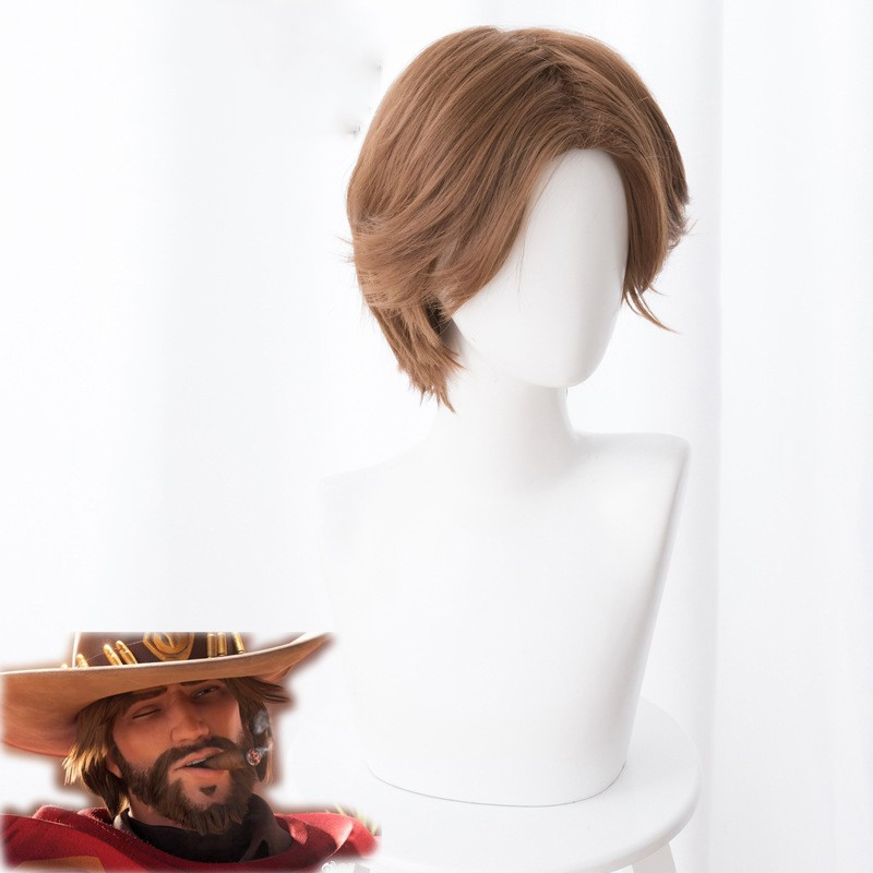 Over OW Mccree Cosplay green cloak with Hat