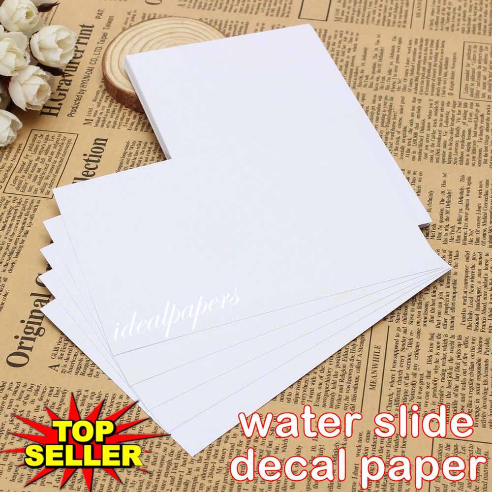 White inkjet water slide decal paper wholesale trade packs 50 A4