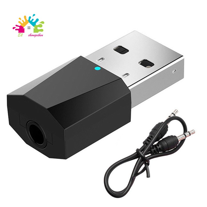 Bluetooth USB Audio Receiver for TV PC Car Xbox Projector CD Player Compatible with Home Car Stereo Audio System Dual Audio Output Bluetooth Audio Adapter