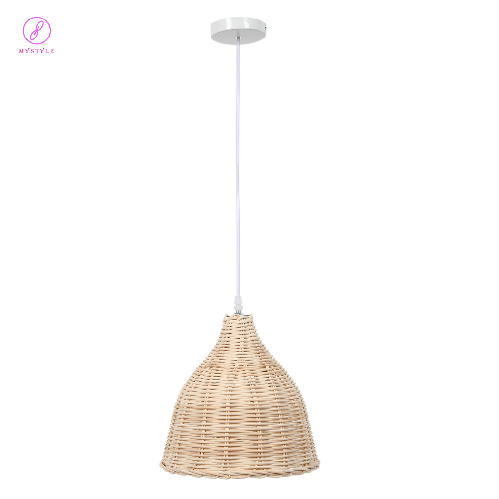 Rattan Hanging Lamp E27 Pendant Light Nordic Chandelier For Kitchen Bedroom Living Room 26cm In Diameter Without Bulb Shopee Philippines