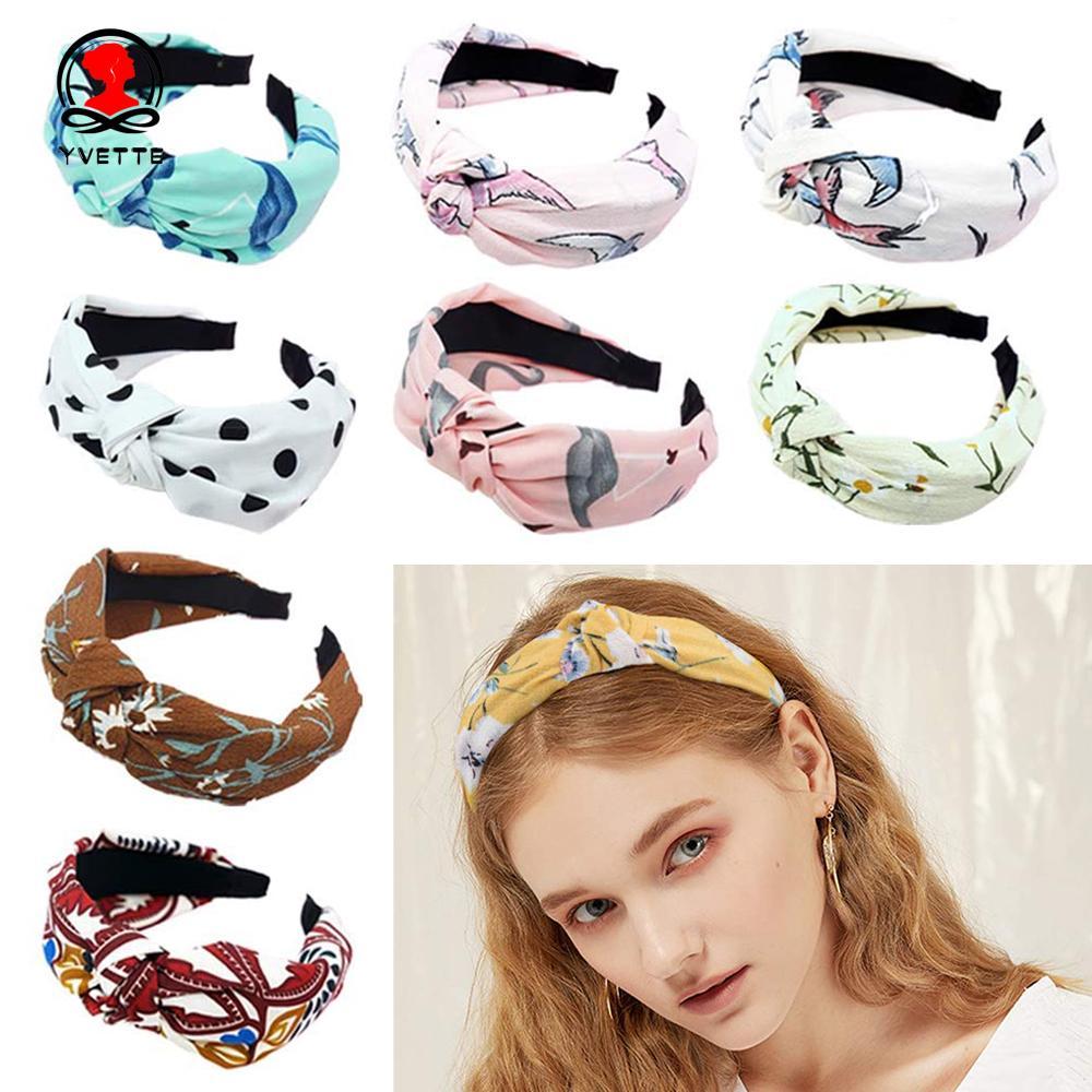 YVETTE Top Knot Wide Headbands Head Wrap Girls Hair Bands Women's Headband    Shopee Philippines