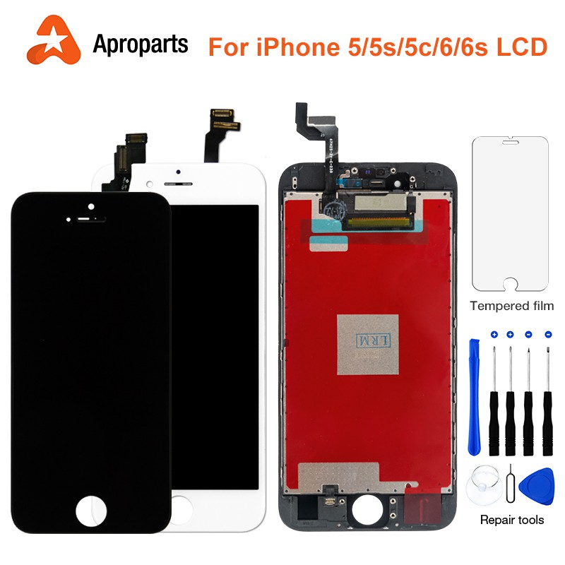 AAA+++ LCD Display For iPhone 5 5S 5C 6 6S Touch Screen+Tool