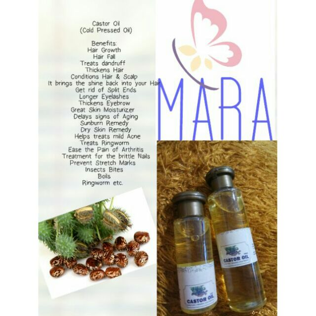 Pure Castor Oil (Cold Pressed) for Hair, Skin and Health