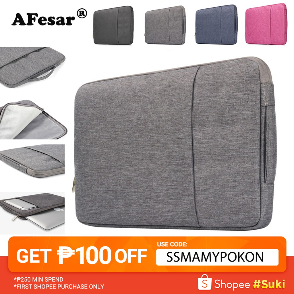 """Soft Laptop Sleeve Case Bag Computer Pouch For 11.6/"""" 15.6/"""" Notebook Air Pro"""