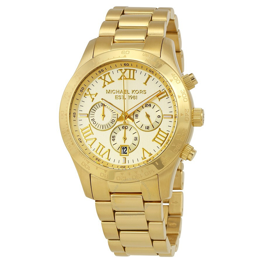 838d7bf6f0a6 Michael Kors Men s Brecken Gold-Tone Chronograph Watch