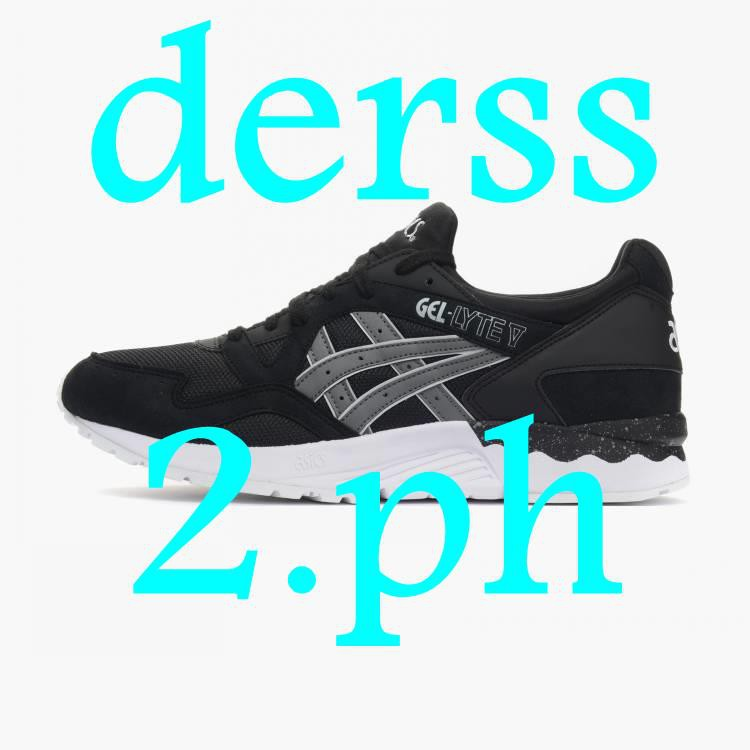 Asics Unisex Snearkers Shoes NBA IELTS Asics Gel-Lyte V Black Warrior Men's  and Women's Sports Runni