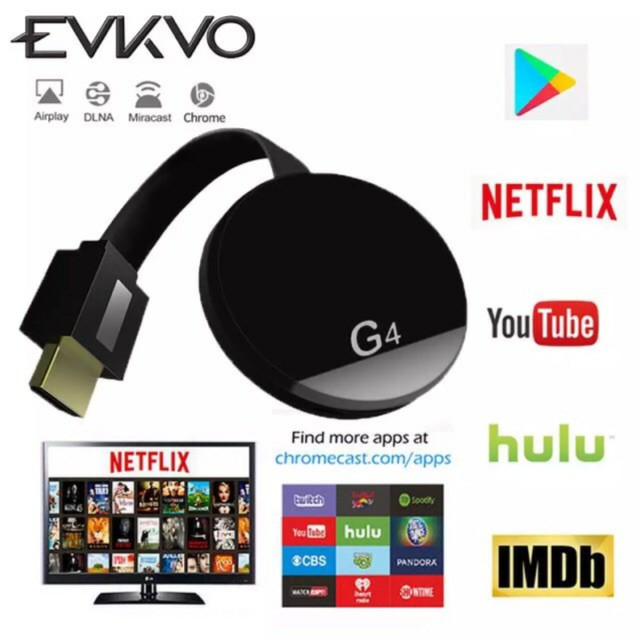 G4 4K HDMI DONGLE Google ChromeCast AnyCast WeCast MiraCast