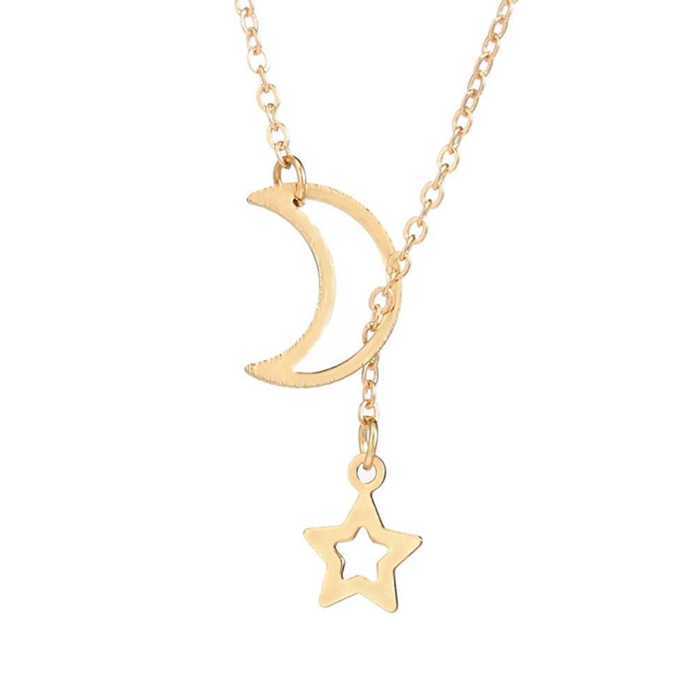 Adjustable choker silver choker moon and stars choker charm choker necklace
